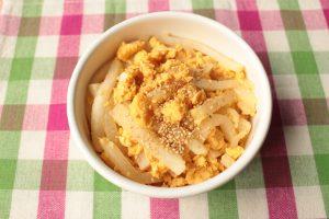 レンジで簡単常備菜レシピ。大根の卵いための作り方。