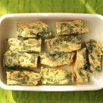 卵の簡単作り置き常備菜レシピ。ほうれん草オムレツの作り方。