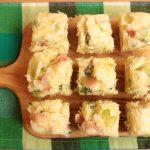ホットケーキミックスで簡単レシピ。ブロッコリーとベーコンチーズ蒸しパン