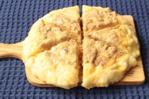 人気のレンジで簡単レシピ。ツナメルト豆腐蒸しパンの作り方。