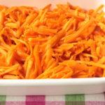一番簡単な作り置き常備菜レシピ。にんじんポン酢ごま油のしゃりしゃりサラダ。