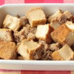 厚揚げの人気常備菜レシピ。厚揚げとひき肉のそぼろ煮の作り方。