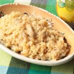 南イタリアの田舎風。人気のツナの塩レモンリゾットのレシピ。チーズ無しの生米で簡単作り方。