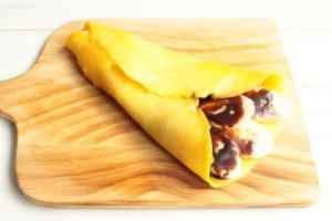 5分で完成!レンジで1人分のクレープの簡単レシピ。癒しのチョコバナナクレープの作り方。