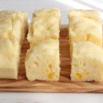 レンジで簡単卵なしレシピ。ほっこりコーンクリーム蒸しパンの作り方