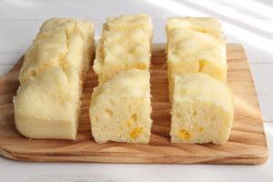 レンジで簡単卵なしレシピ。ほっこりクリームコーン蒸しパンの作り方