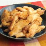 鶏胸肉の節約作り置きおかずレシピ。鶏ムネ肉のスティックたれ塩焼きの作り方。