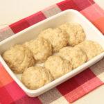 簡単お弁当の作り置きおかずレシピ。ふわふわだしハンバーグの作り方。