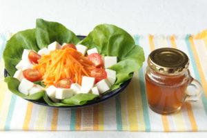 作り置き梅シロップのおいしい使い方!まぜるだけ梅ドレッシングの作り方。