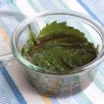 大葉の大量消費におすすめレシピ。日持ちする大葉のめんつゆ漬けの作り方。