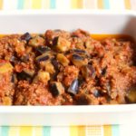 レンジで簡単常備菜レシピ。茄子がゴロゴロおかずミートソースの作り方。