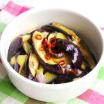 レンジで簡単常備菜レシピ。なすのペペロンチーノ風の作り方。