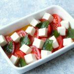 簡単常備菜レシピ。冷やしトマトと豆腐のだし漬けサラダの作り方。