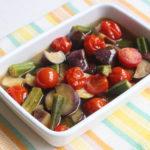 夏野菜の消費におすすめ!レンジで夏野菜の揚げない煮びたしの作り方。白だしで味付け簡単レシピ。