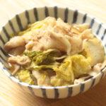 白菜消費に最高!白菜と豚肉の味噌バター鍋のレンジで簡単作り方。