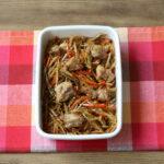 基本の作り置きレシピ。鶏ごぼうきんぴらの作り方。