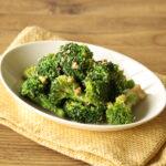 人気の作り置きレシピ。ブロッコリーのごまマヨしょうゆサラダの作り方。