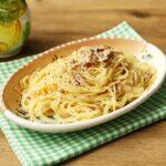 レンジでゆでる最高においしいパスタのレシピ。ツナの塩レモンバターパスタの超簡単作り方。