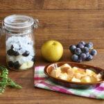 氷砂糖で巨峰と梨のシロップの簡単作り方とパンプディングのレシピ。