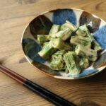 レンジで簡単作り置きレシピ。おくらのしょうゆマヨネーズあえの作り方。